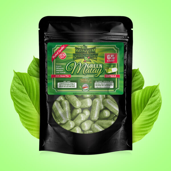 Green Malay Capsules - 65 count