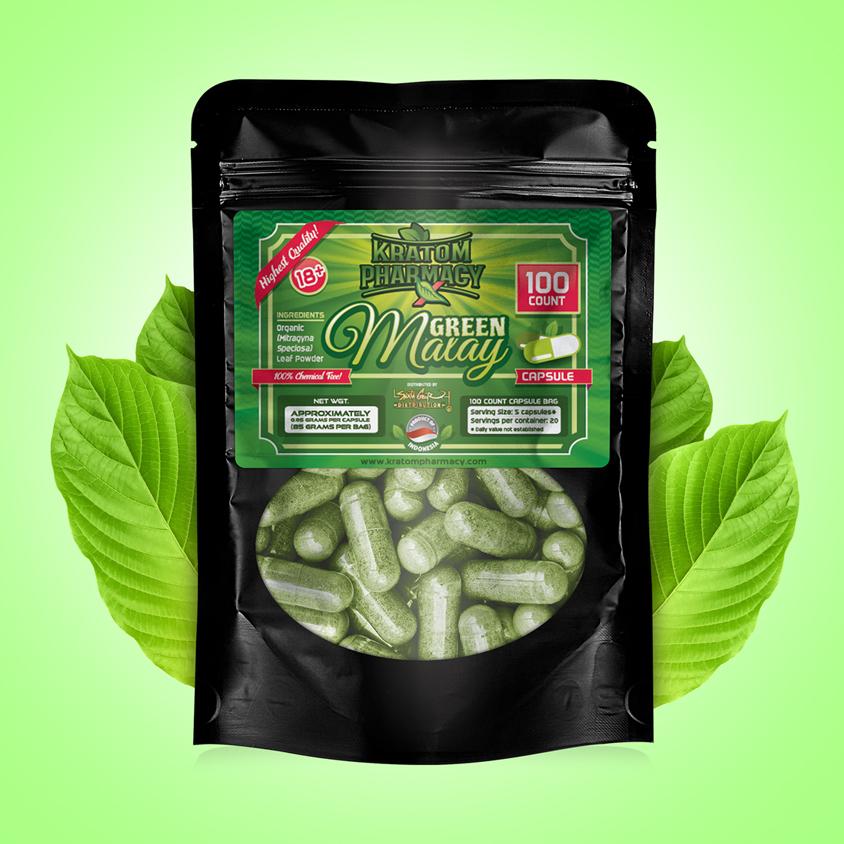 Green Malay - 100 Capsules